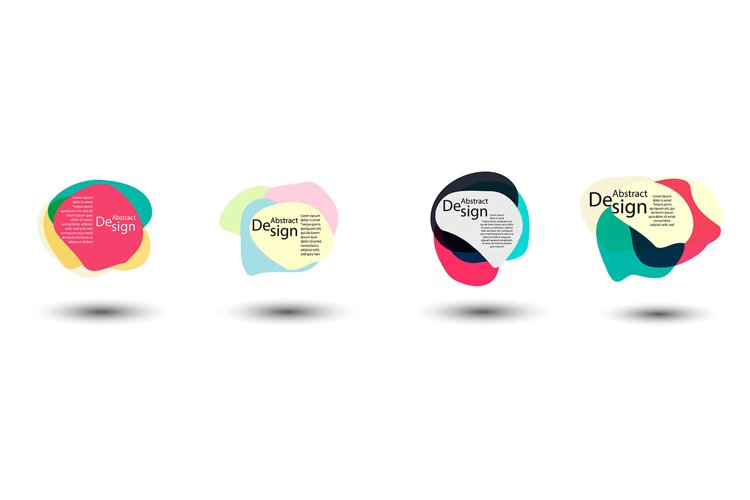 Unique abstract graphic elements. Banner. Design templates example image 1