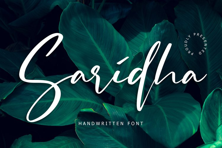 Saridha Handwritten Font example image 1