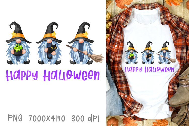 Halloween sublimation designs fall Halloween witch gnomes example image 1