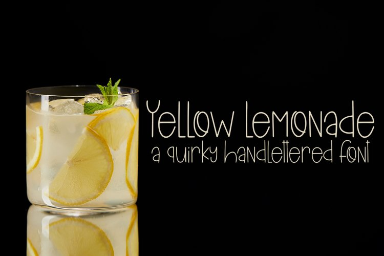 Yellow Lemonade - A Quirky Hand Lettered Font example image 1