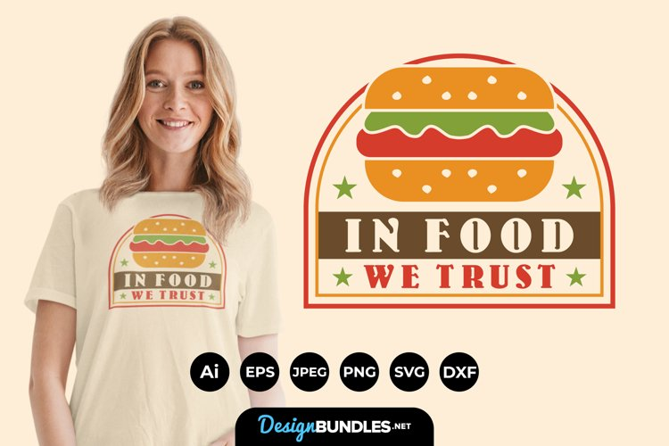 In Food We Trust Hand Lettering SVG example image 1