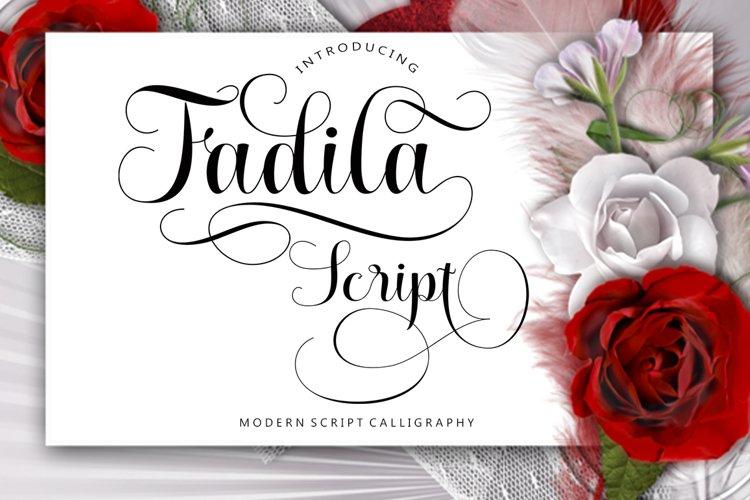 Fadila Script example image 1