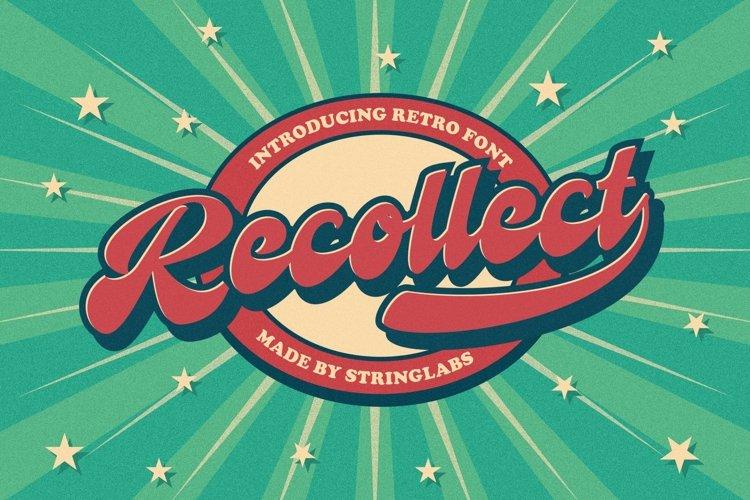 Recollet - Bold Script Retro Font example image 1