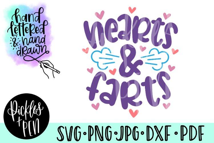 hearts svg - kids fart svg - funny valentine