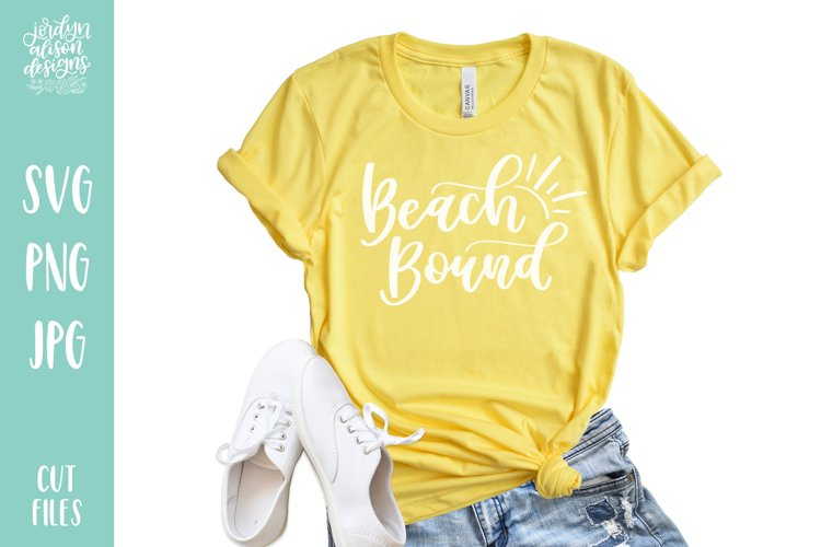 Beach Bound, Hand Lettered SVG Cut File