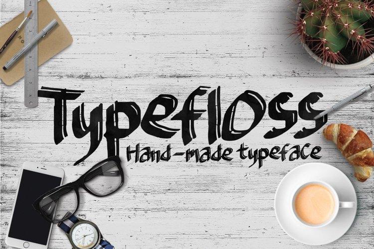 Web Font Typefloss Handmade Typeface example image 1