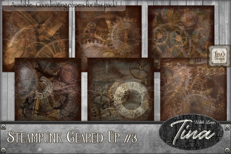 Steampunk Geared Up Gears Clocks Grunge 092918GU3 example image 1