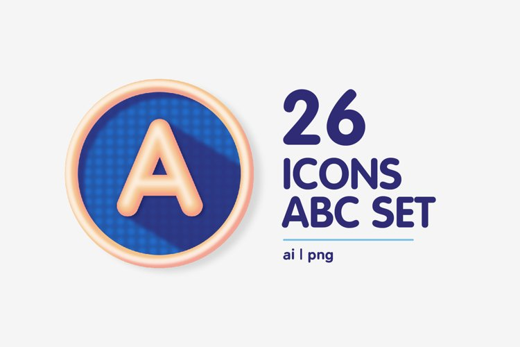 Colourful Alphabet Characters Icon Set