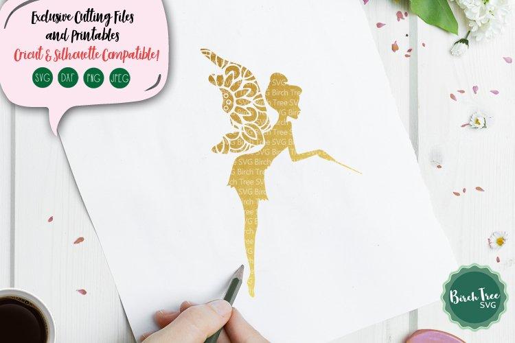 Fairy Mandala Svg, Fairy Svg, Cute Fairy Svg Cut File Design