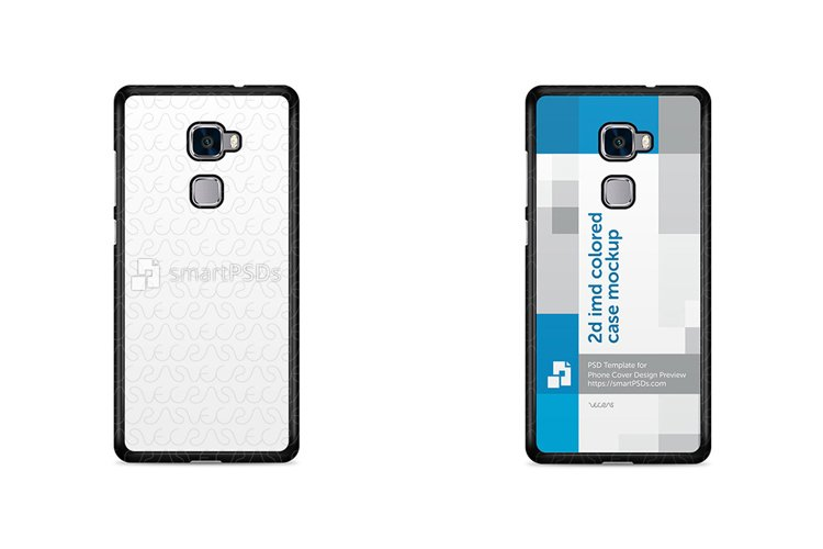 Huawei Mate S 2d IMD Colored Mobile Case Design Mockup 2015 example image 1
