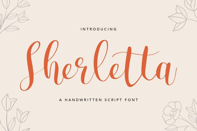 Sherletta Handwritten Font example image 1