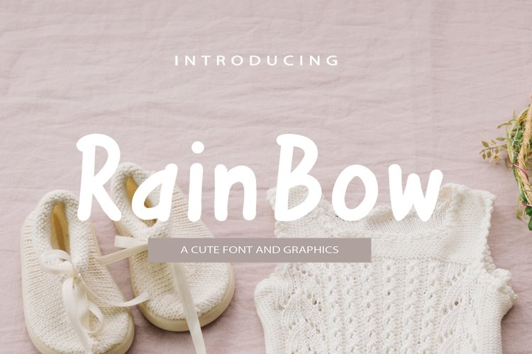 Rainbow Font and Graphics example image 1