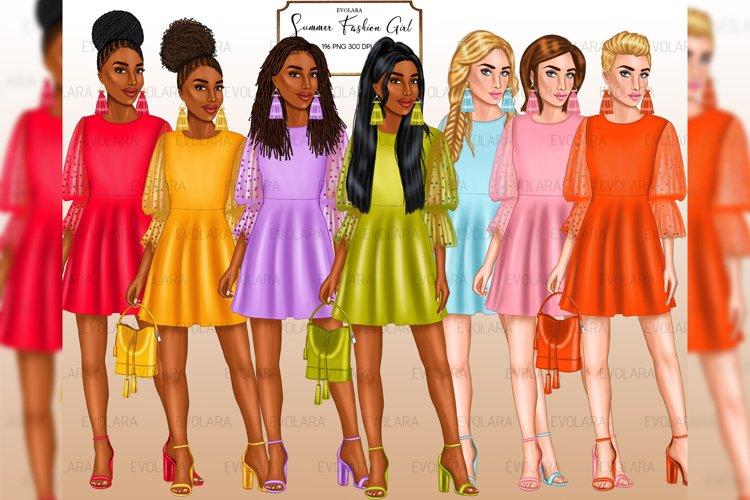 Fashion Girl Clipart Summer Girl Afro Girls African American