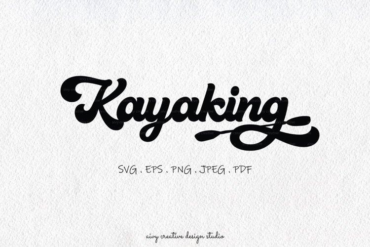 Kayaking SVG PNG EPS example image 1