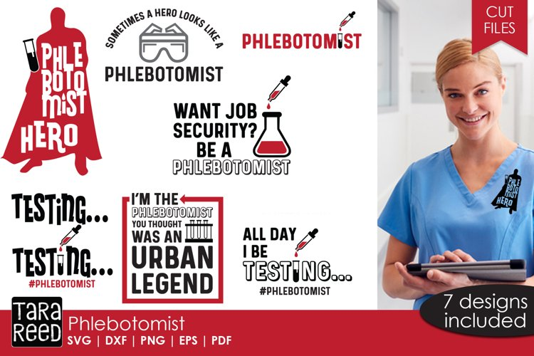 Phlebotomist - SVG and Cut Files for Crafters