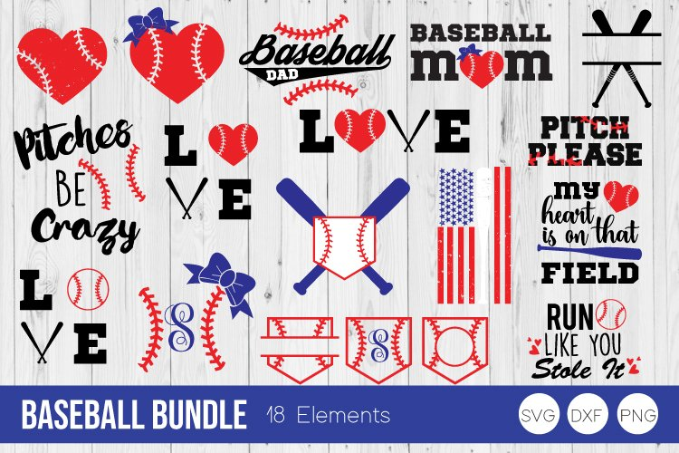 Baseball Bundle SVG Cut Files example image 1