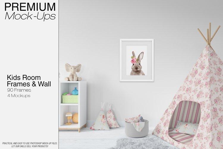 Kids Wigwam, Pouf, Wall & Frames Set example image 1