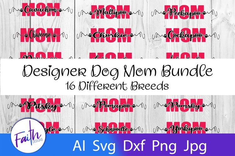 Designer Dog Mom Svg Bundle example image 1