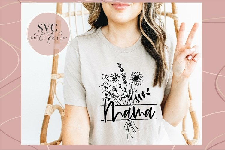 Mama Floral Monogram svg, Mothers day tee svg, DIY Gift