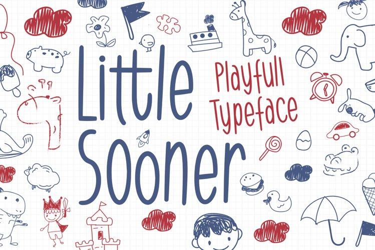 Little Sooner - Playful Typeface example image 1