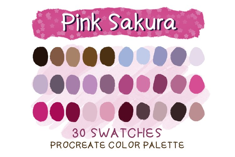 Pink Sakura Procreate Color Palettes example image 1