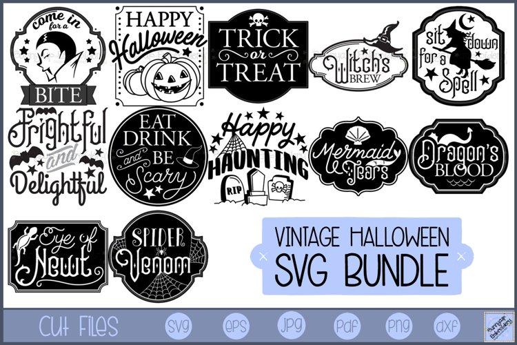 Vintage Halloween - 12 SVG, Clipart, Graphics