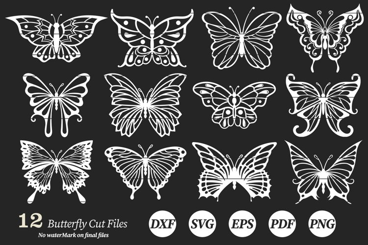 Butterflies Clip Art | Vector files example image 1
