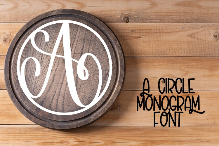 Circle Monogram Font - Monogram Initials example image 1