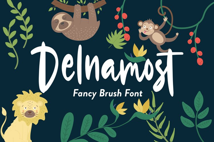 Delnamost - Fancy Font example image 1