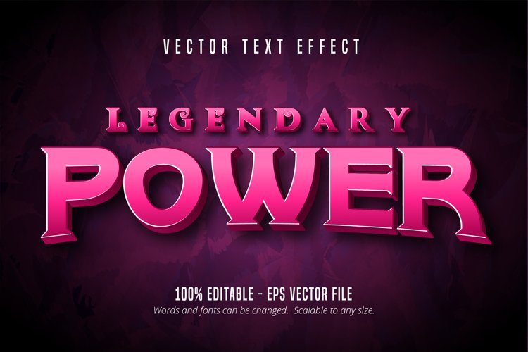 Legendary power text, game style editable text effect example image 1