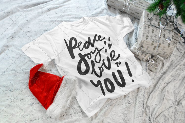 Christmas SVG| Peace, love, jpy! example image 1