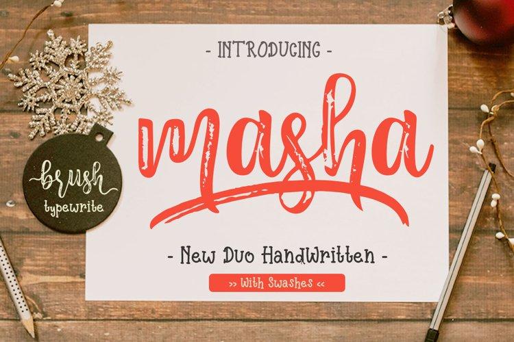 Masha // Duo Handlettered Fonts example image 1