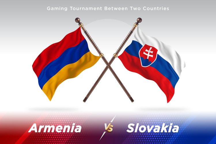 Armenia versus Slovakia Two Flags example image 1