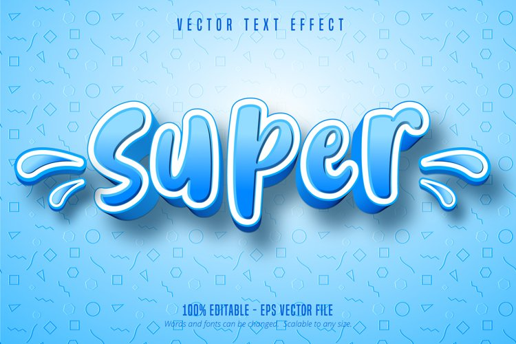 Super text, cartoon style editable text effect example image 1