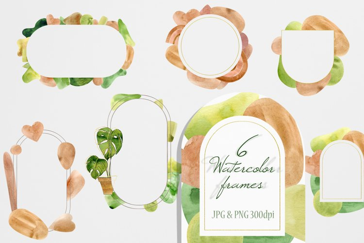 Watercolor Home Plant Clipart Set example 1