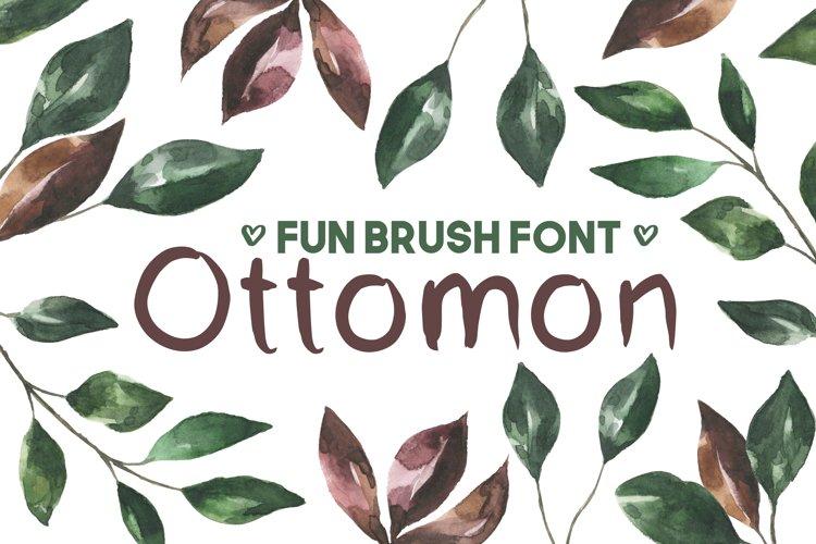 Ottomon Handwritten Brush Font example image 1