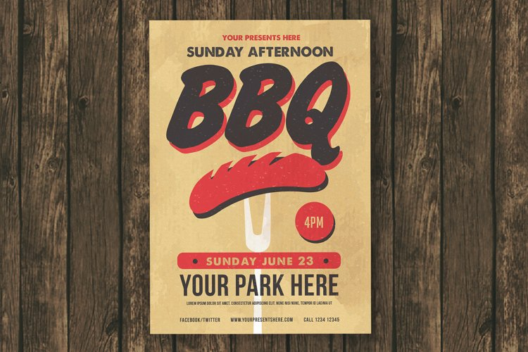 Sunday BBQ Flyer example image 1