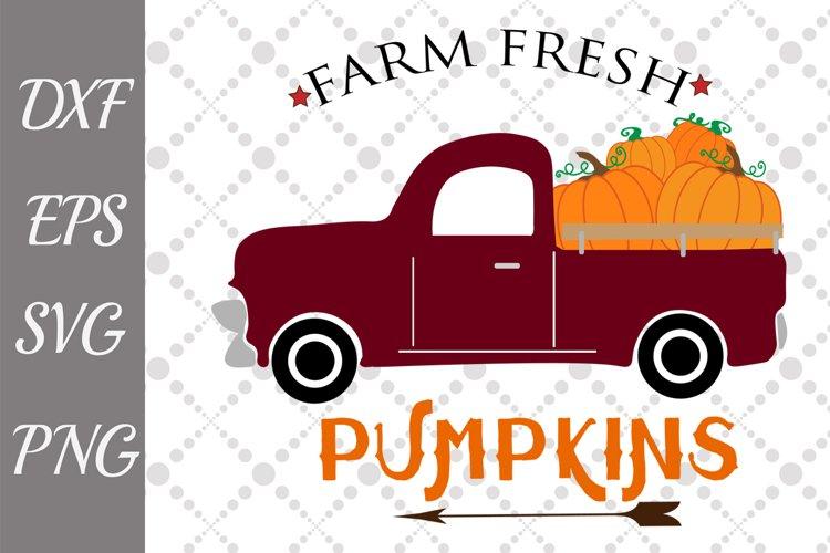 Pumpkin Truck Svg, FARM FRESH SVG, Pumpkin Svg example image 1