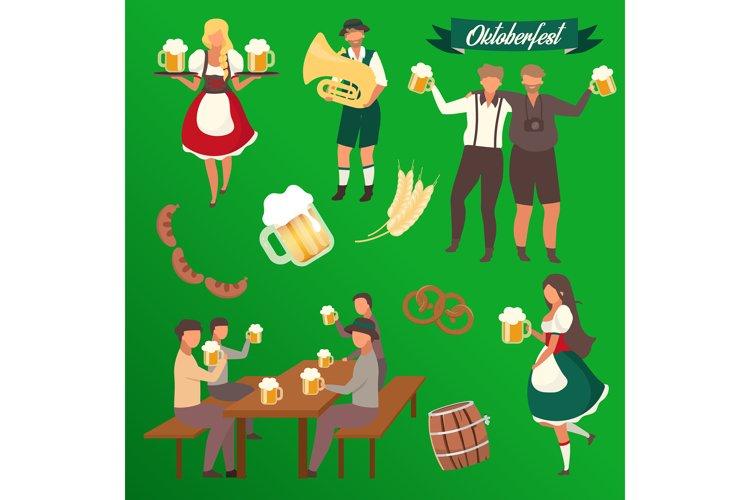 Oktoberfest flat vector illustrations set example image 1