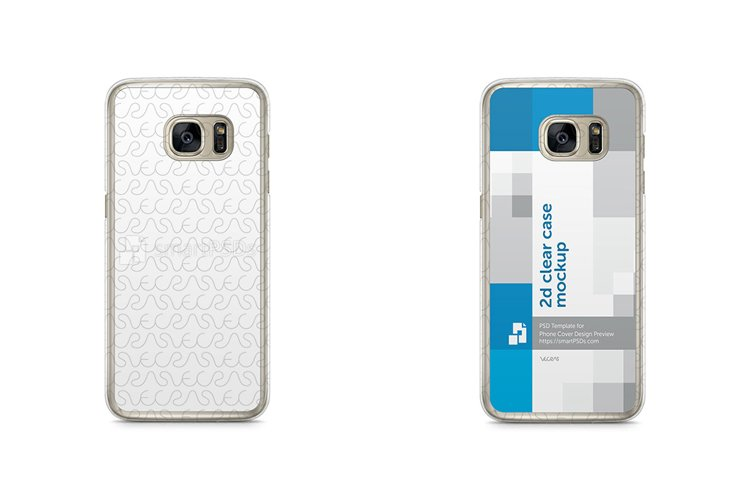 Samsung Galaxy S7 Edge 2d Clear Mobile Case Mockup 2016 example image 1