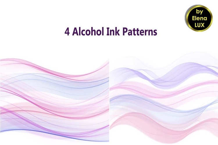 4 Alcohol ink backgrounds example image 1