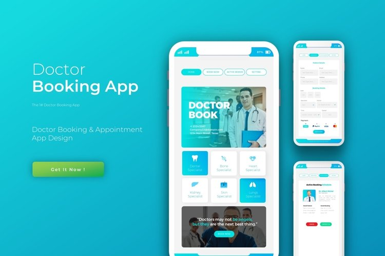 Doctor Book | App Template example image 1
