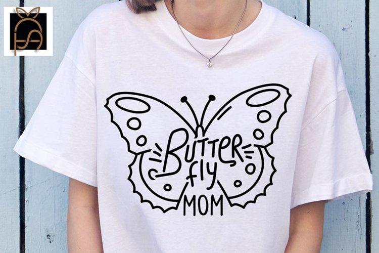 Butterfly Mom - Nana - Girl SVG DXF EPS PNG