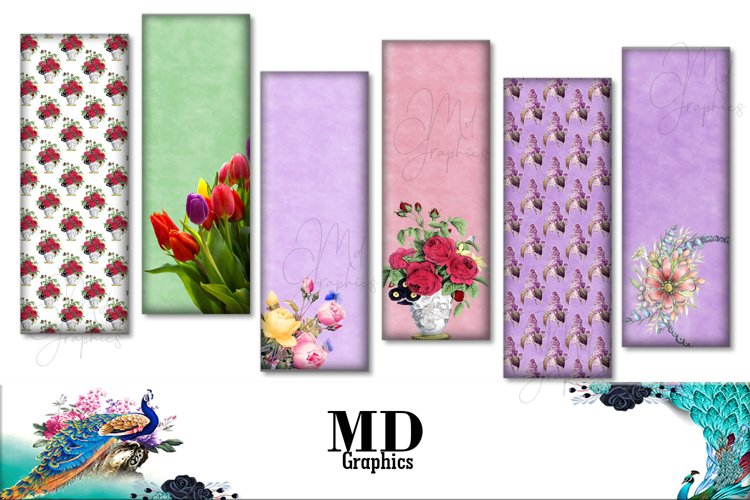 Tulips Flowers, Cards Flowers, Bookmarks Floral, Digitales example image 1
