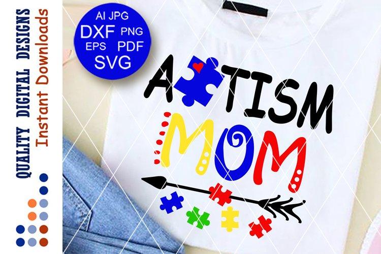 Autism Mom svg files sayings Pazzle piece clip art
