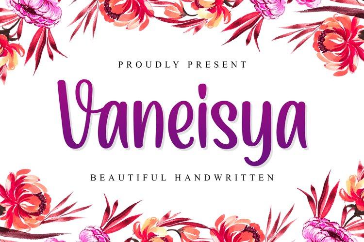 Vaneisya - Beautiful Handwritten example image 1