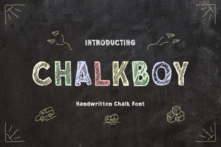 Chalkboy - Handwritten Chalk Font example image 1