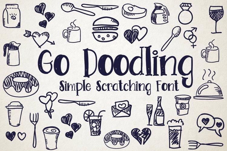 Go Doodling, Scratching Font