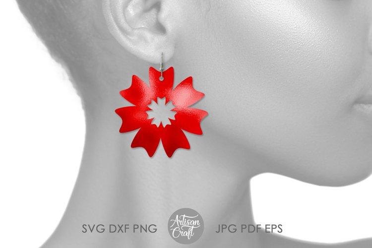 Earring template SVG, sunflower SVG, earrings SVG example 3