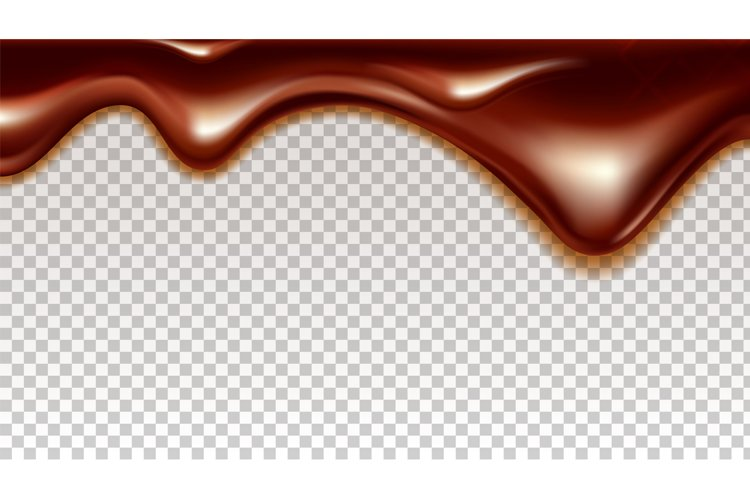 Flowing Sticky Sweet Chocolate Cocoa Cream Vector example image 1
